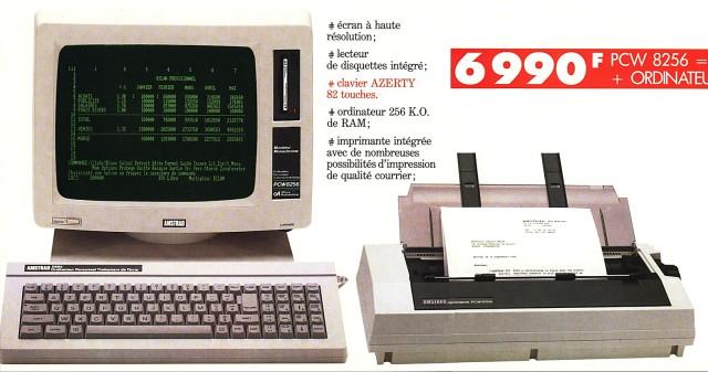 MO5 COM : Musée des Machines : Ordinateur : L' Amstrad PCW 8256