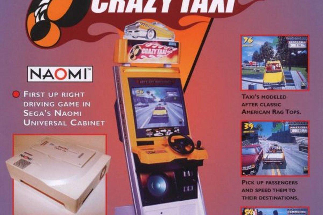 Crazy Taxi Arcade Flyer